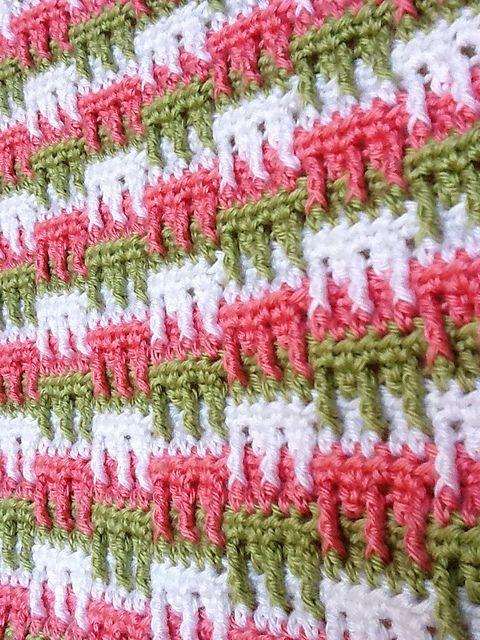 Bright Textures Blanket pattern by Bernat Design Studio   Tejido de ...