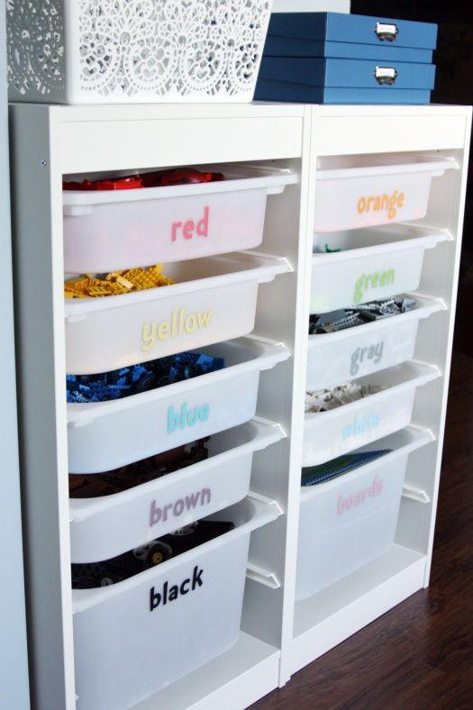 Lego sorterat efter färg Förskolan Pinterest Ikea storage
