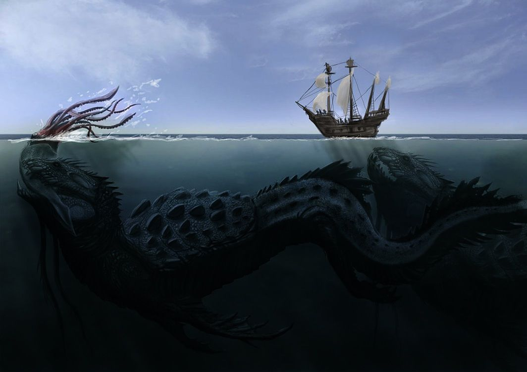 The Odd And The Cool Page 35 Photos Sea Monsters Fantasy Creatures Monster Art