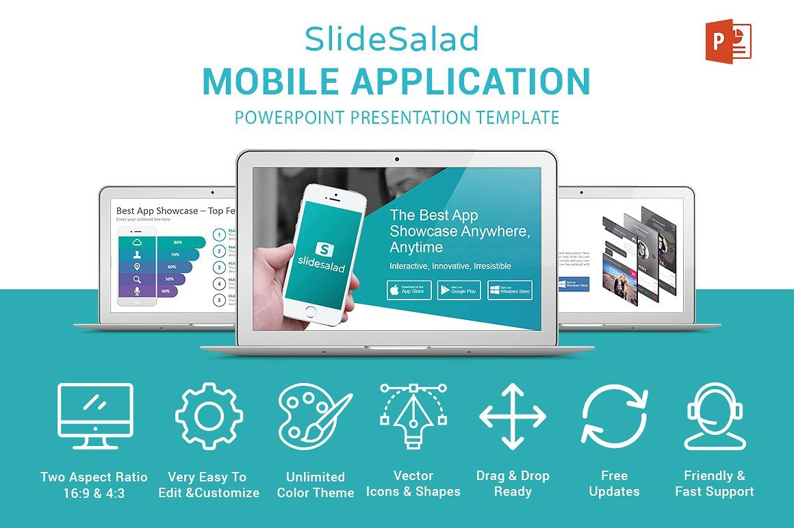 Mobile Apps Powerpoint Template Powerpoint Effective Powerpoint Presentations Powerpoint Templates