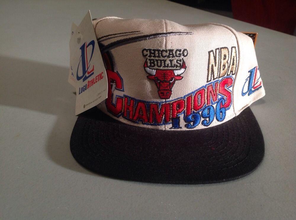 11f4ed6a6a21f4 1996 CHICAGO BULLS NBA CHAMPIONS VINTAGE SNAPBACK HAT MICHAEL JORDAN NWT  NEW 90S