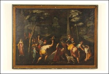 Dipinto raffigurante Lapidazione Antiquariato su Arsantik