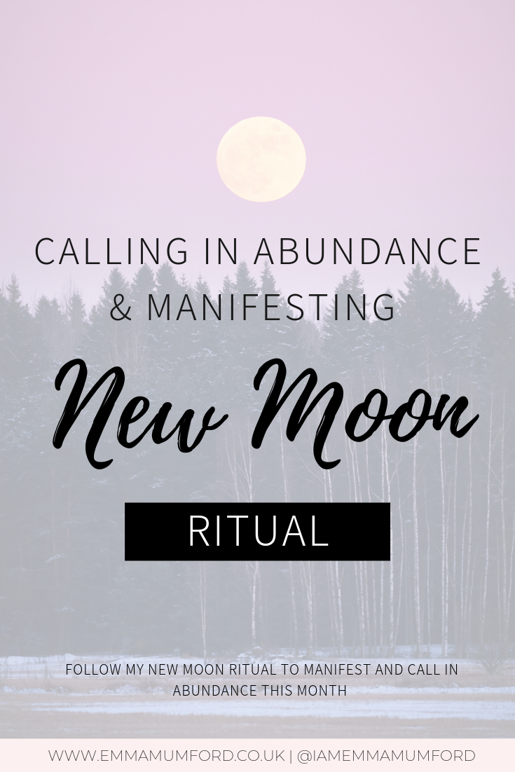 CALLING IN ABUNDANCE & MANIFESTING NEW MOON RITUAL | LAW OF ATTRACTION #newmoonritual