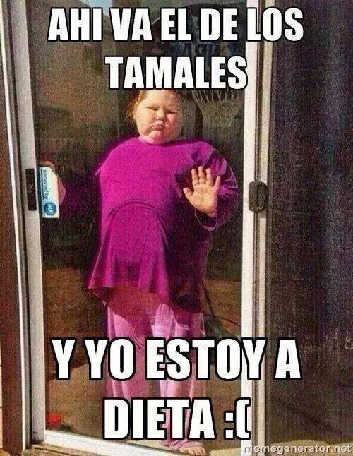 Ahi Va El De Los Tamales Y Yo Estoy A Dieta Memes De Gordos Fotos Graciosas Con Frases Humor De Mujer