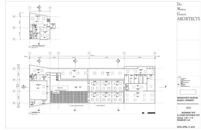 Brandhorst Museum Construction Documents By Elizabeth Webb At