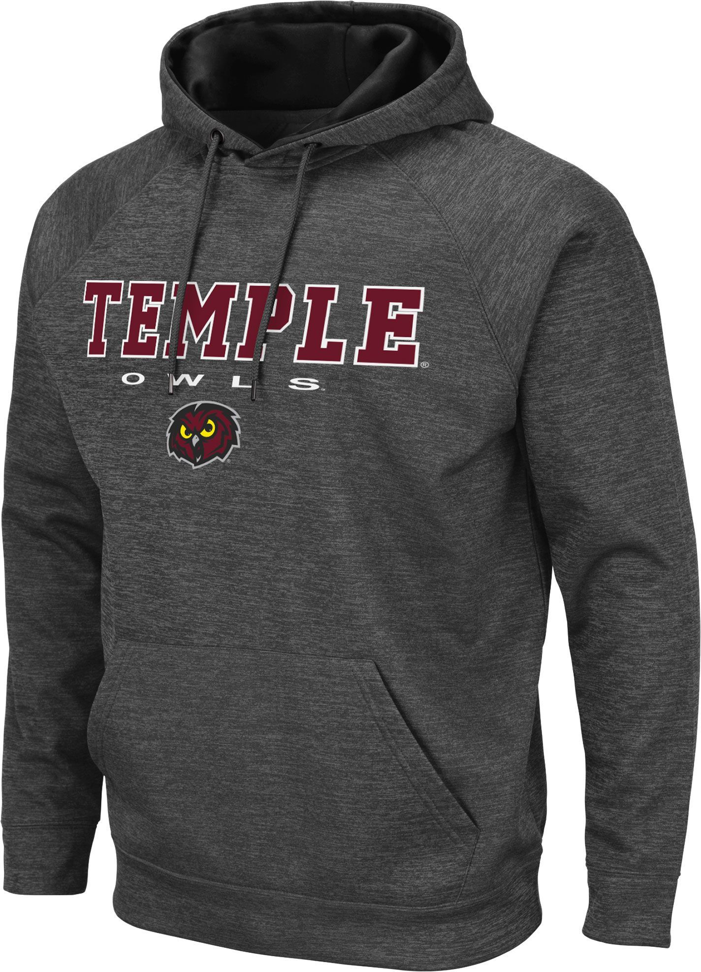 2bca58b4 Colosseum Men's Temple Owls Grey Pullover Hoodie, Size: XXL, Gray