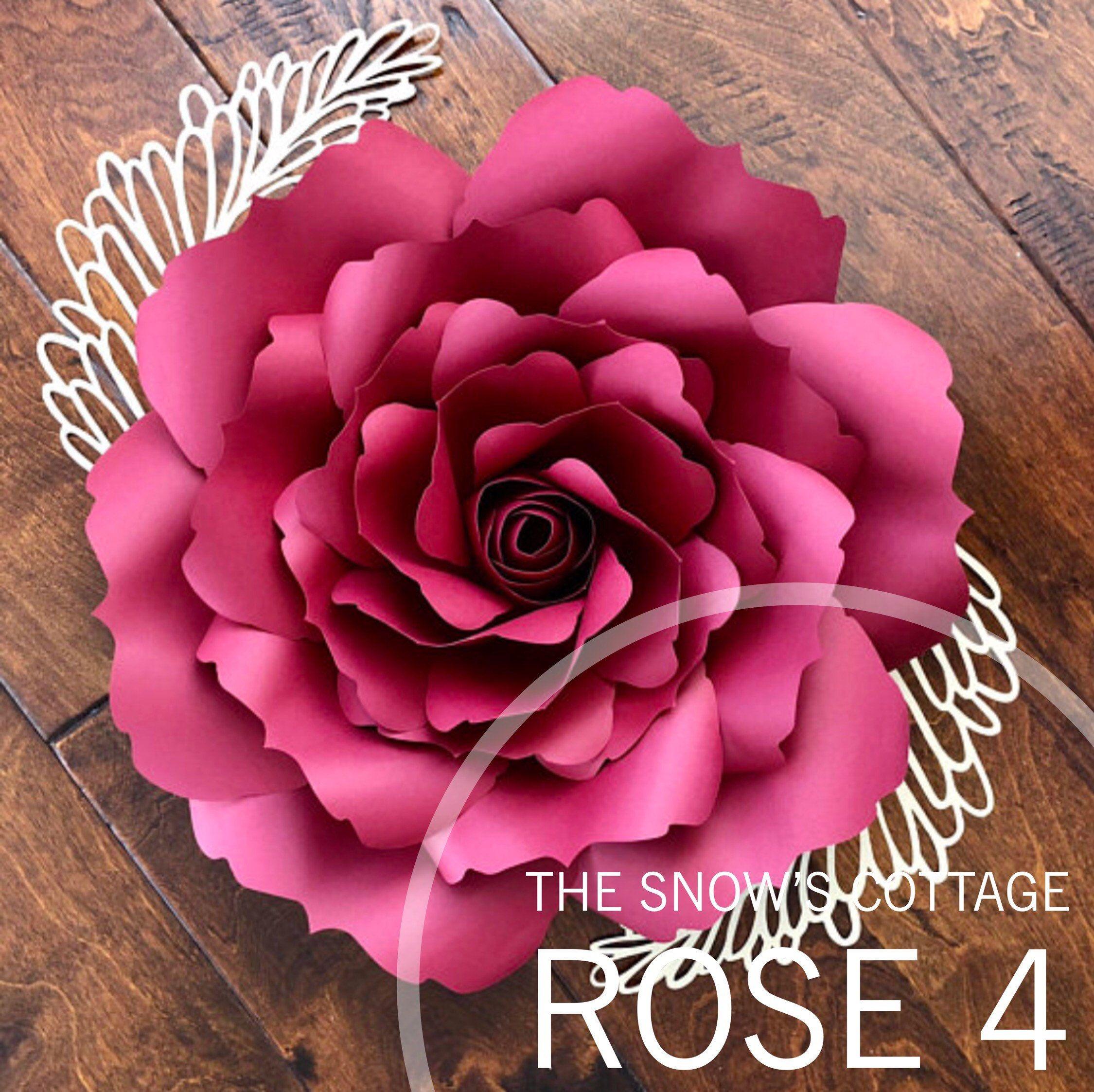 Instant Download Rose #4 SVG Large Paper Flower Rose Petal