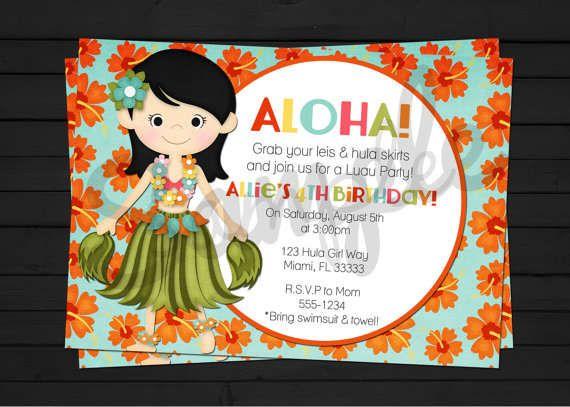 free printable luau invitations – invitation templates word | lual, Invitation templates