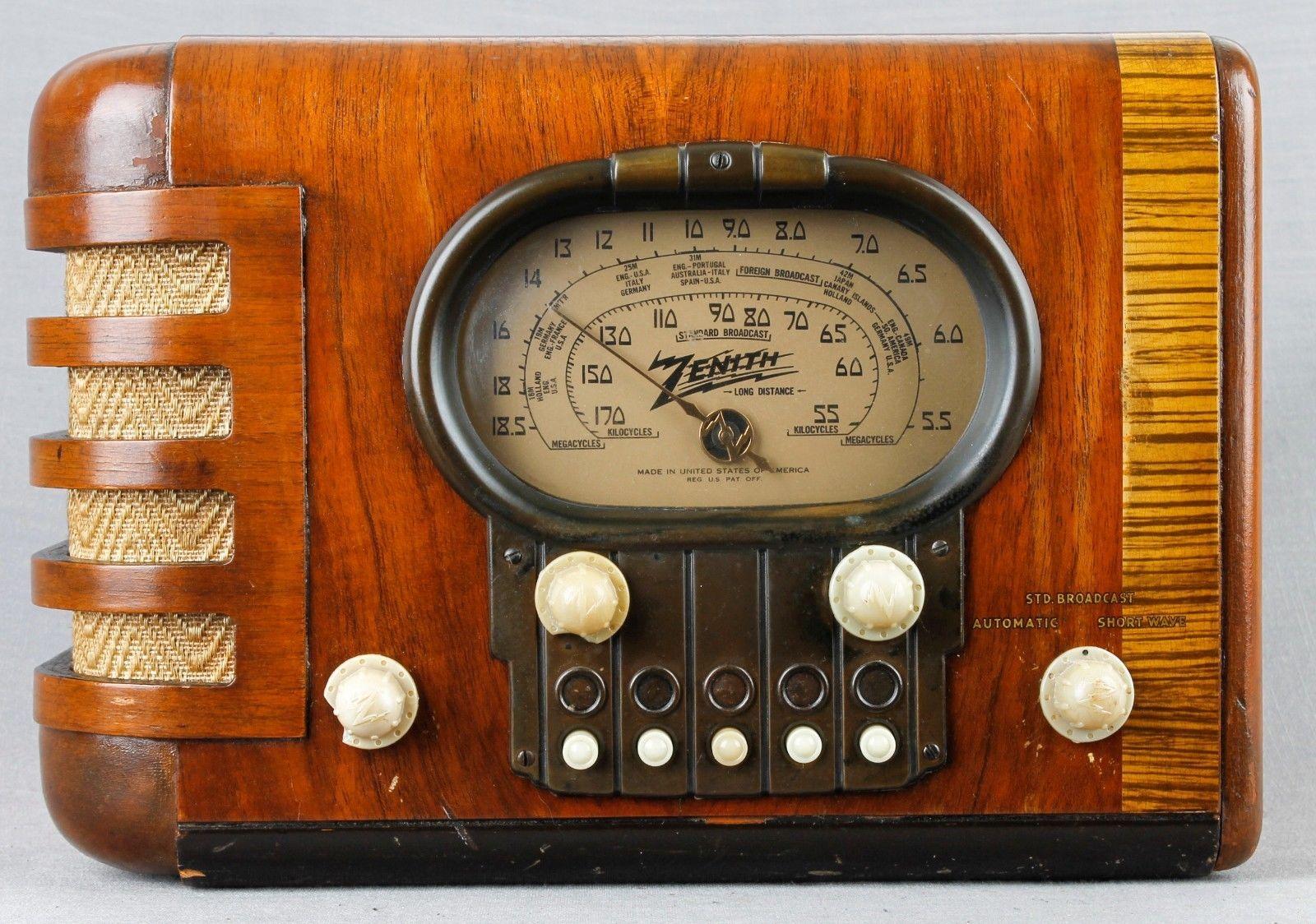 Beautiful Working Zenith Racetrack Wood Tabletop Vacuum Tube Radio Awesome Ebay Vintage Radio Antique Radio Retro Radios
