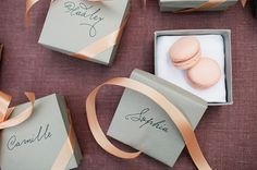 Favor boxes // styling by EslaEvents.com photo by MEFPhoto.com
