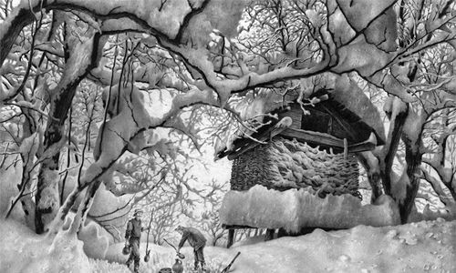 landscape drawings in pencil incredible pencil sketches of winter