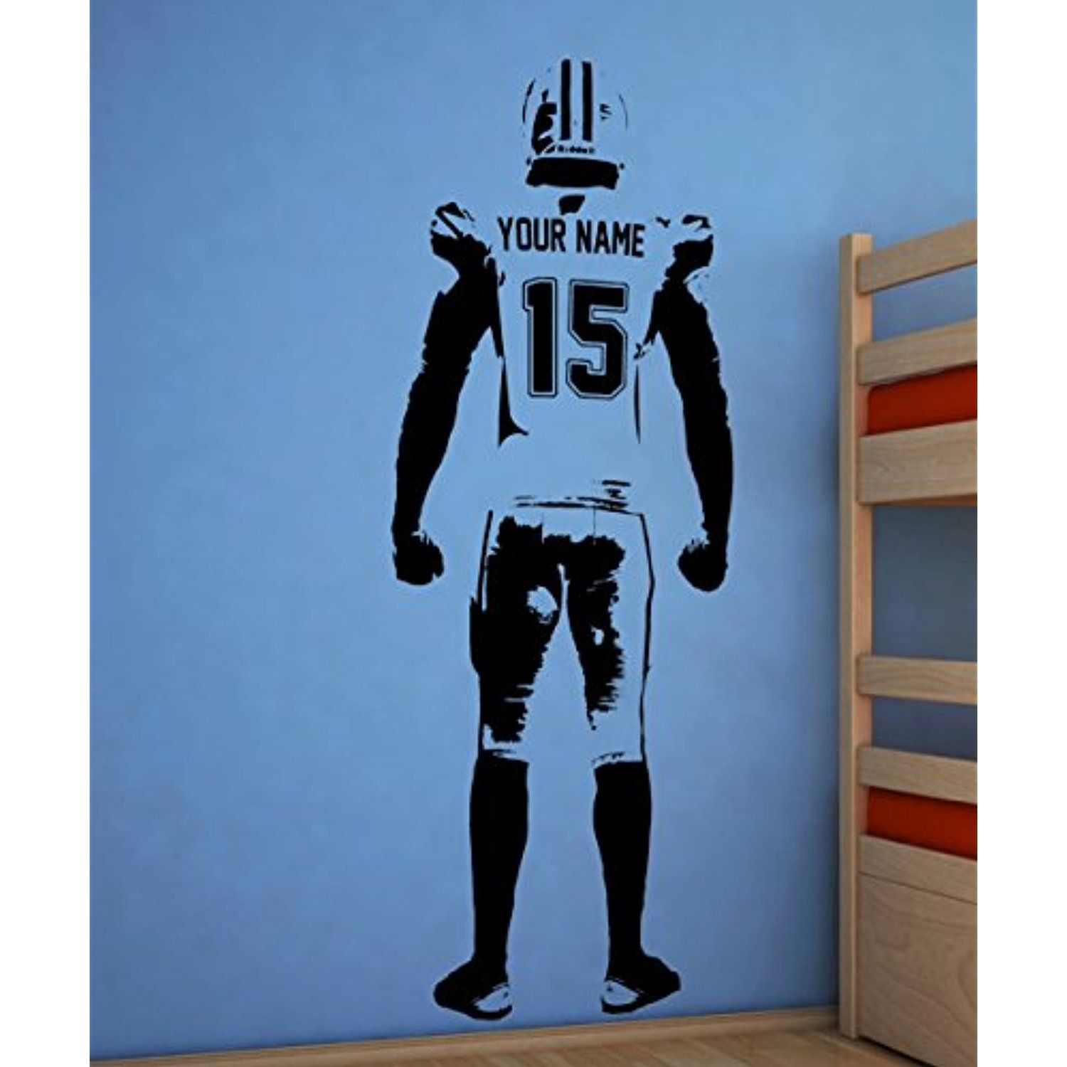 Sky Expo Wall Art Football Wall Decal Decor Custom Jersey