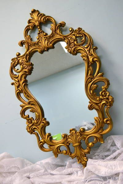Ornate Rococo / Hollywood Regency Mirror with Gold Finish From ...