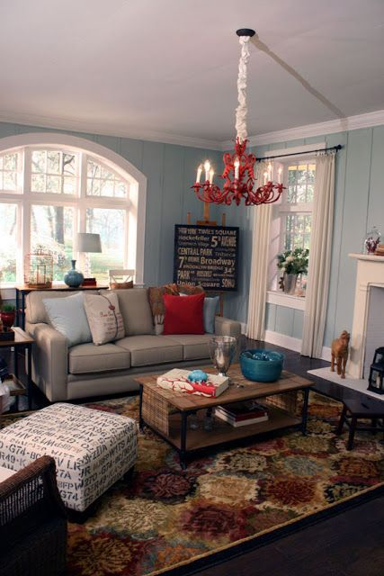Remodelaholic Beach Themed Living Room Projects To Work On Pinterest Beach Themed