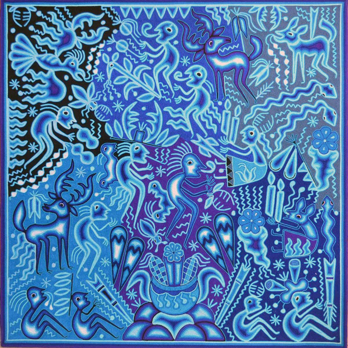 Design Yarn Art hilaria chavez carillo premier huichol yarn painting ceremony for protection of children