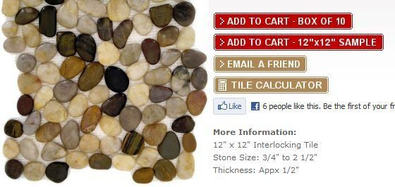 Installing River Pebble Backsplash River Pebbles Pebbles Interlocking Tile