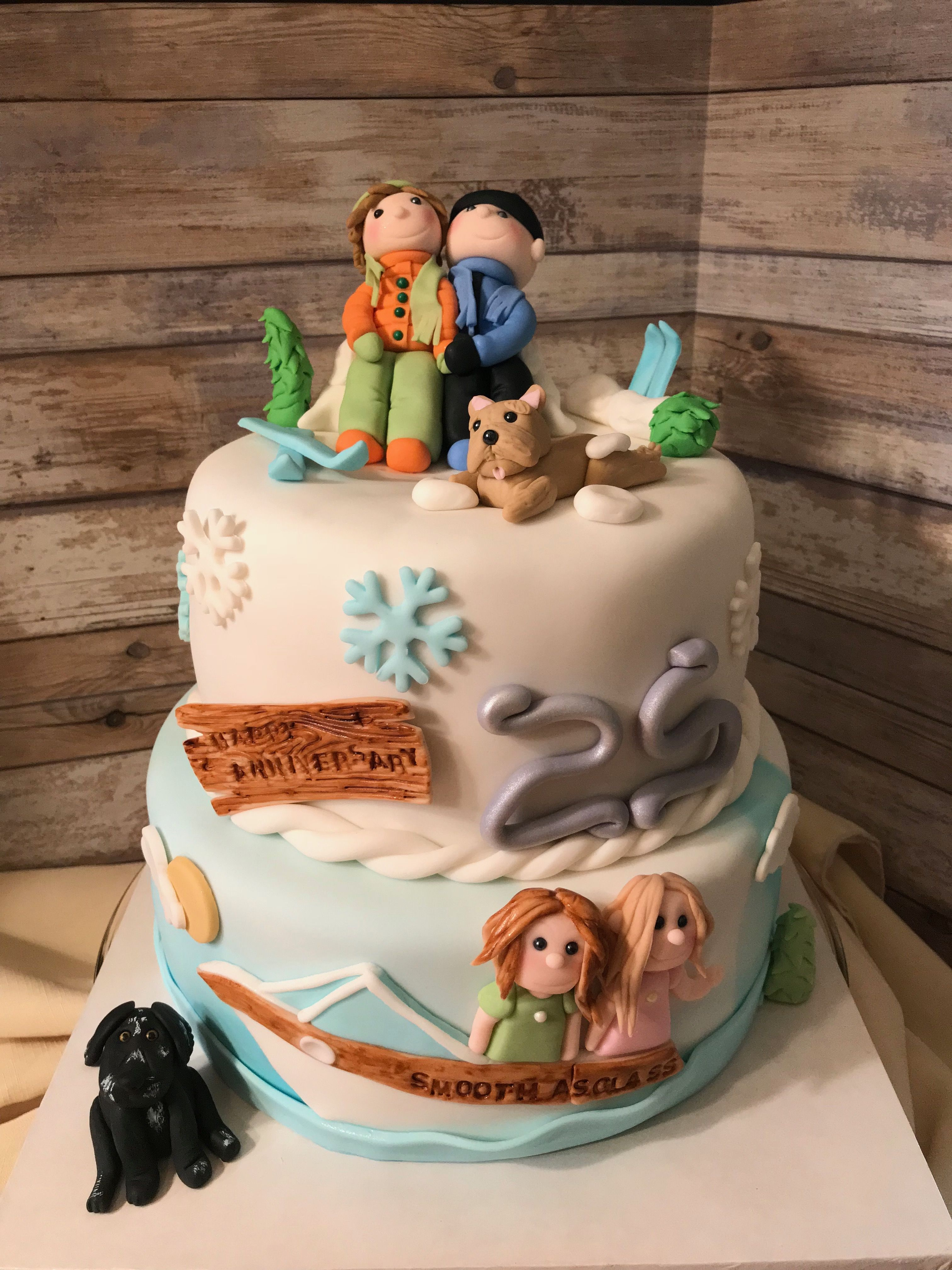 Cake with a story cake anniversary cake cake decorating