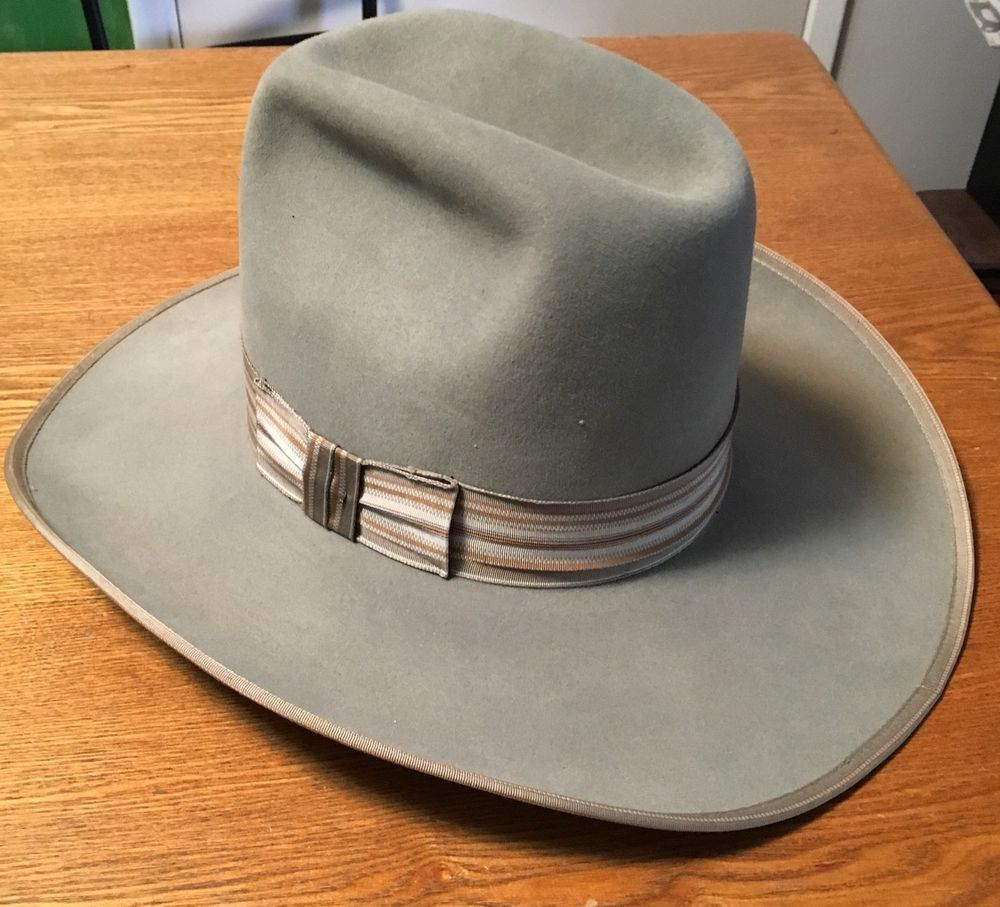 e4a3aa05097 Men s Stagecoach Felt Western Hat Resistol Non Conforming Size 7 3 8 Gray