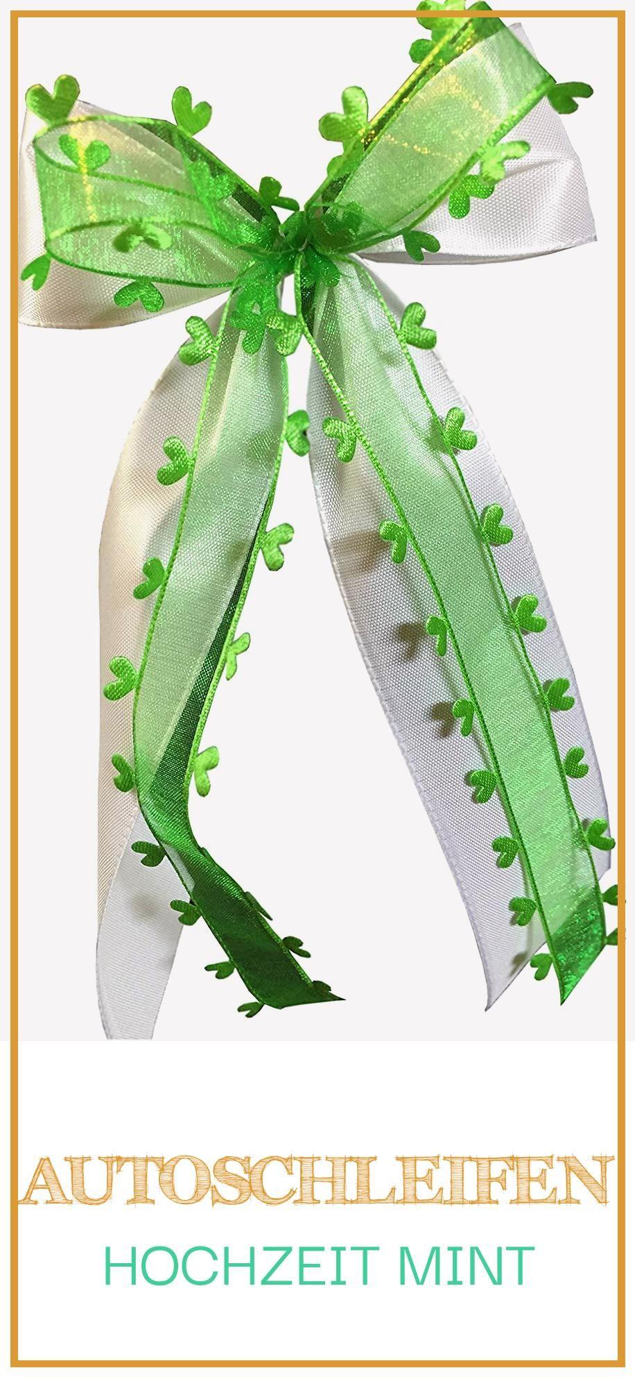 Large 18 Autoschleifen Hochzeit Mint Cactus Plants Wedding Concept