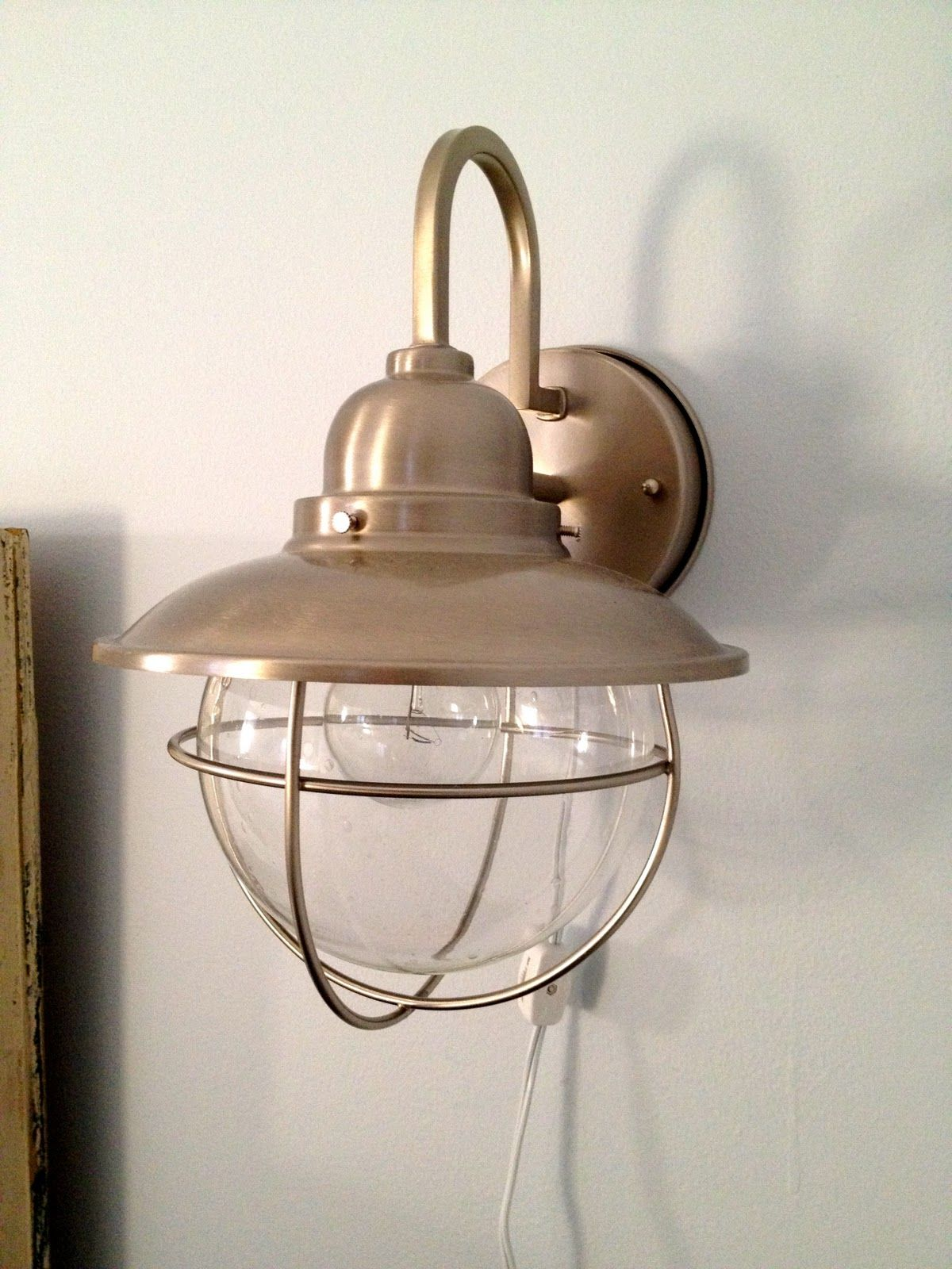 Wall Sconces No Wiring : How to make a hard-wire wall light into a plug in wall sconce.....I might be able to do this ...