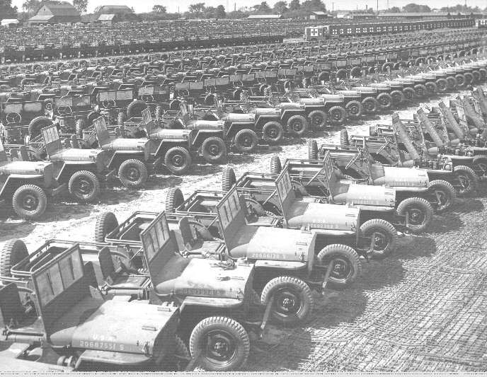 willys mb jeep 4x4s at the rossford ordnance depot toledo lucas county public library images. Black Bedroom Furniture Sets. Home Design Ideas