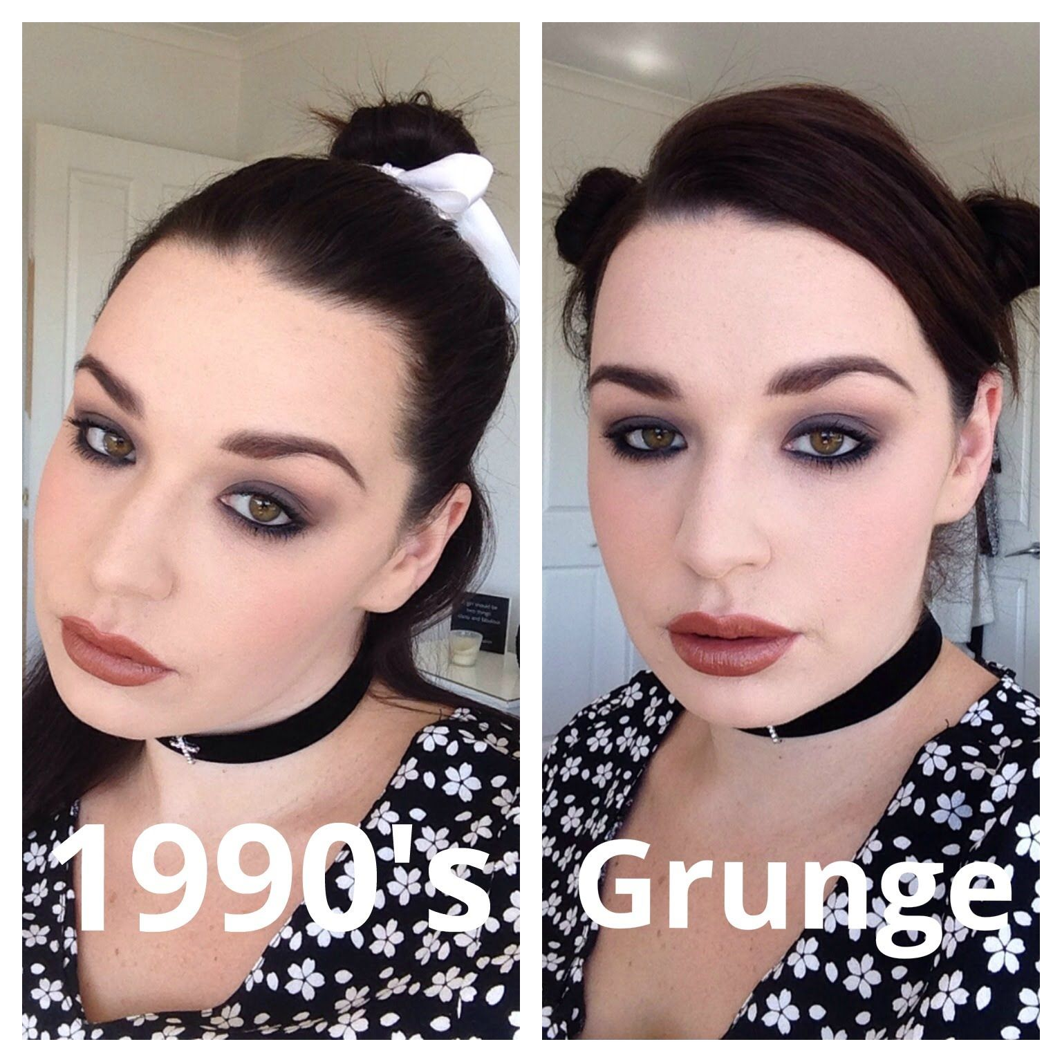 Grunge Glam 1990s Makeup Tutorial Youtube With Images Grunge