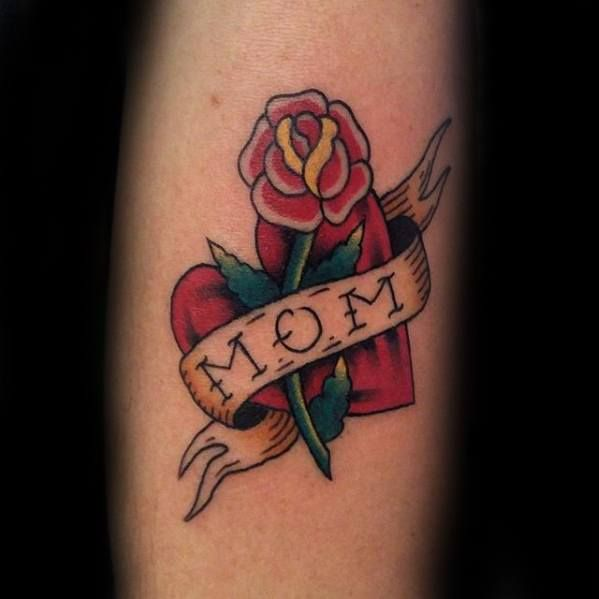 40 Traditional Mom Tattoo Designs For Men Memorial Ideas In 2020 Mom Tattoo Designs Tattoos For Guys Mom Heart Tattoo