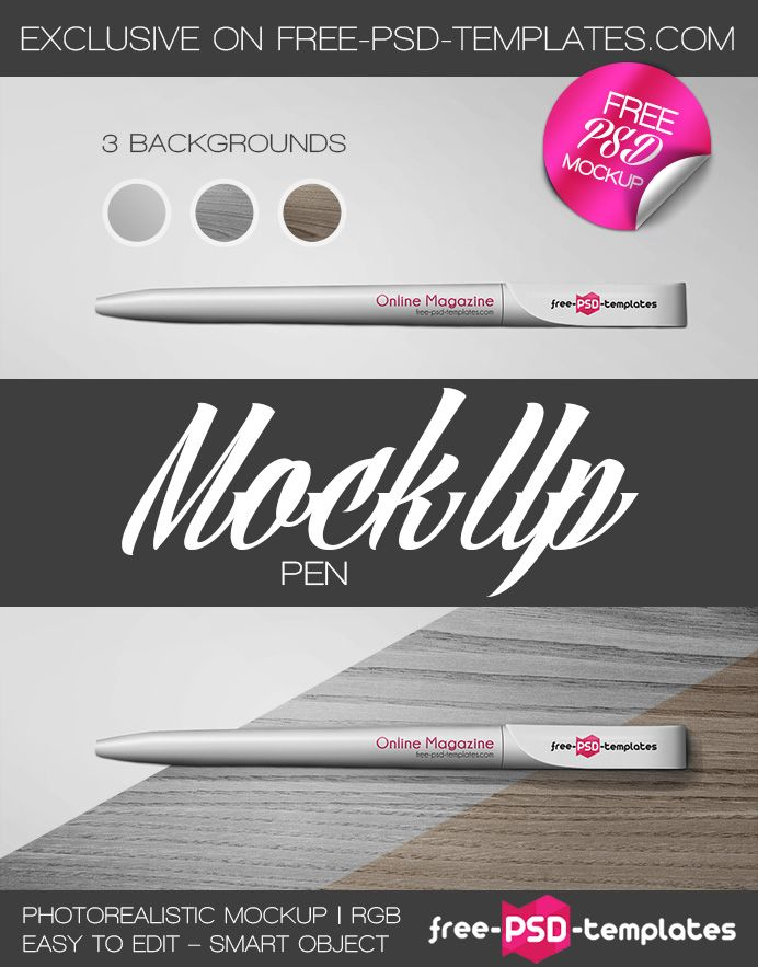Free Pen Mockup (36.1 MB) | free-psd-templates.com | #free ...