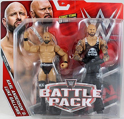 "WWE Battle Pack Luke Gallows Karl Anderson /"" Action Figures Series 50 read"