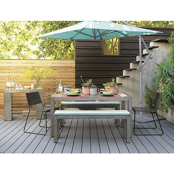 cb2 patio furniture. LIke The Various Materials Used For Fencing. Eclipse Aqua Umbrella Shade In Outdoor Furniture | Cb2 Patio S