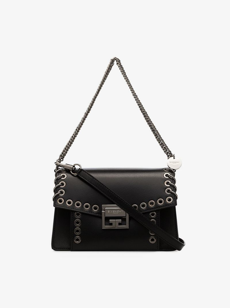 7484ca800dbef GIVENCHY | Black GV3 Leather Crossbody Bag | $4,055 | This black Givenchy  GV3 leather crossbody bag is crafted in Italy from goatskin leather and  features a ...