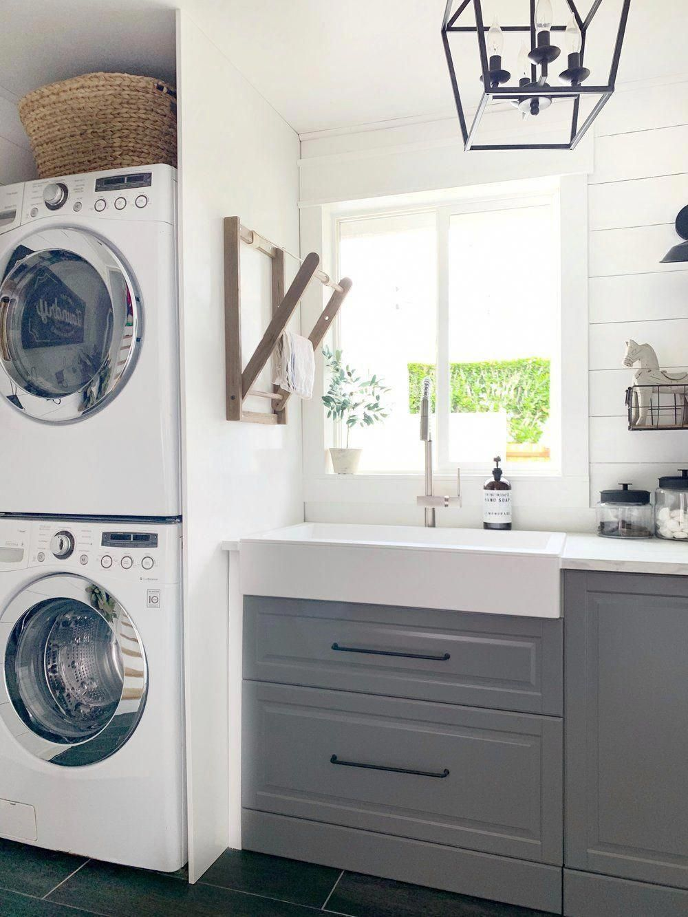 Laundry Room Reveal with Elkay - Dreaming of Homemaking