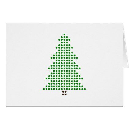 Minimalist Christmas Card Dot Style Christmas Tree Zazzle Com Minimalist Christmas Card Print Christmas Card Xmas Cards Design