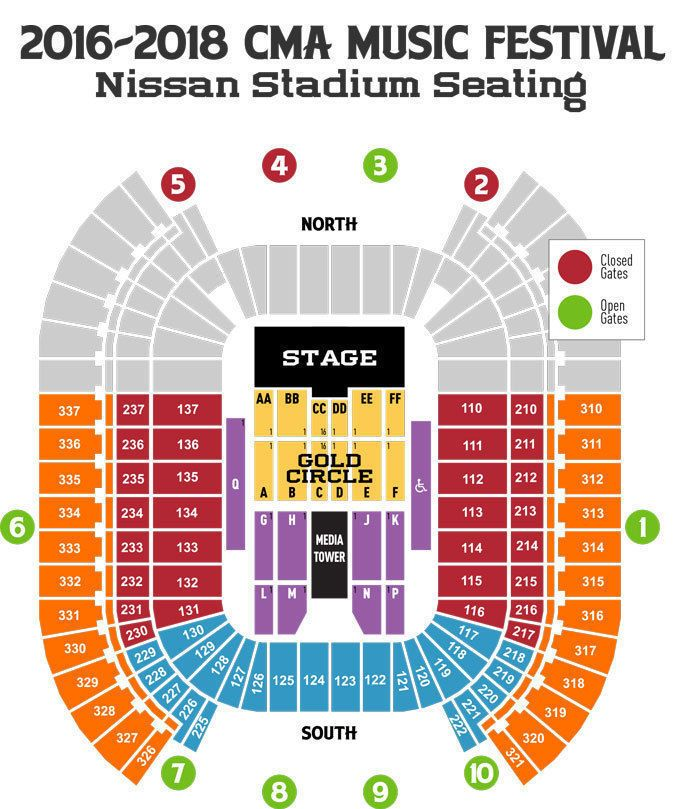Tickets 2 Cma Music Festival 2017 Tickets Gold Circle Section Bb Row 5 Tickets Cma Music Festival Cma Festival Music Fest