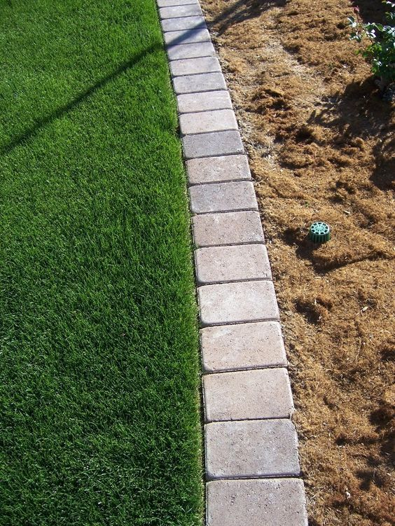 mow over flower bed edging - Google Search #flowerbeds
