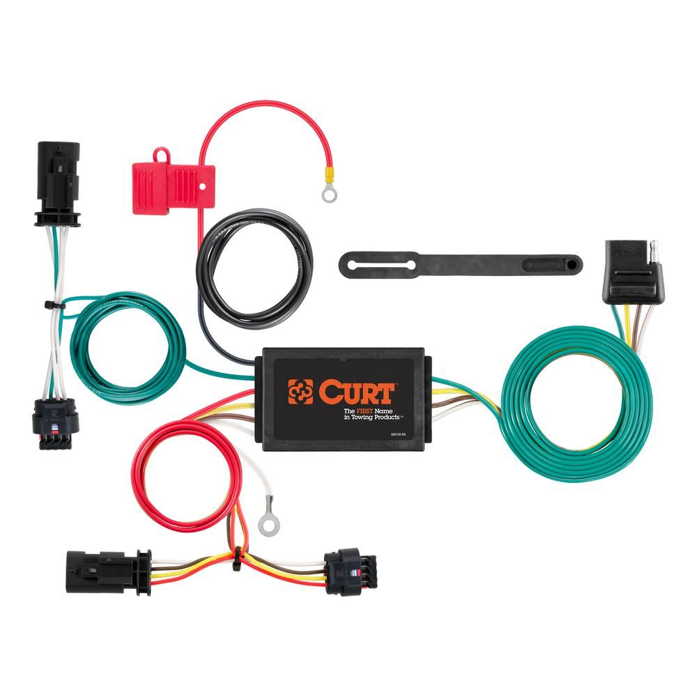 CURT Custom Wiring Harness (4-Way Flat Output) in 2019 ... on