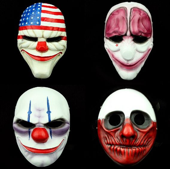 pas cher 4 pc lote gros pvc payday 2 halloween masque. Black Bedroom Furniture Sets. Home Design Ideas