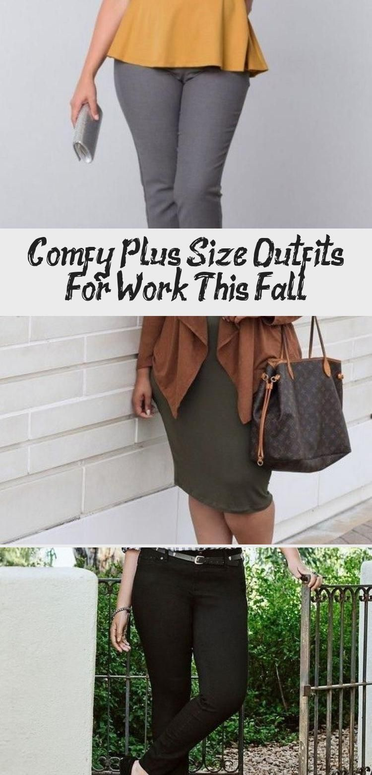 Comfy Plus Size Outfits for Work this Fall - Topkerja.com #simplefashionoutfitsforwomencomfy