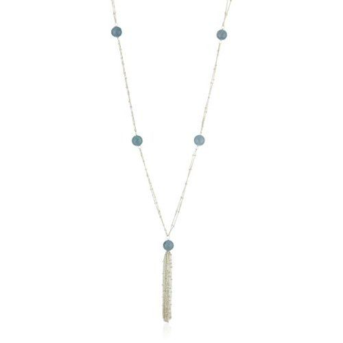 "Satya Jewelry ""Brilliant Cascade"" Angelite Sterling Silver Necklace #jewelry #silver #necklace #staya #amazon"