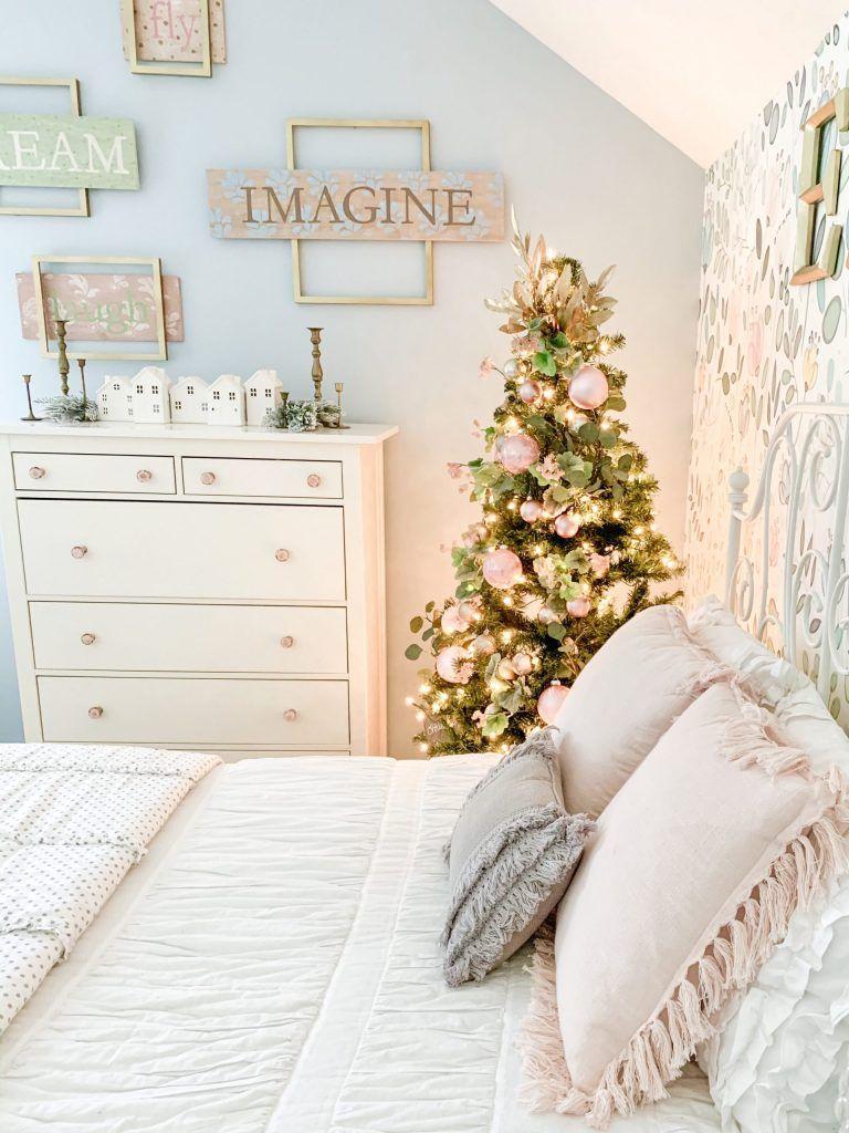 Girl S Bedroom Christmas Tree And Decor Bless This Nest Christmas Decorations Bedroom Christmas Room Holiday Room Decor The girls christmas bedroom