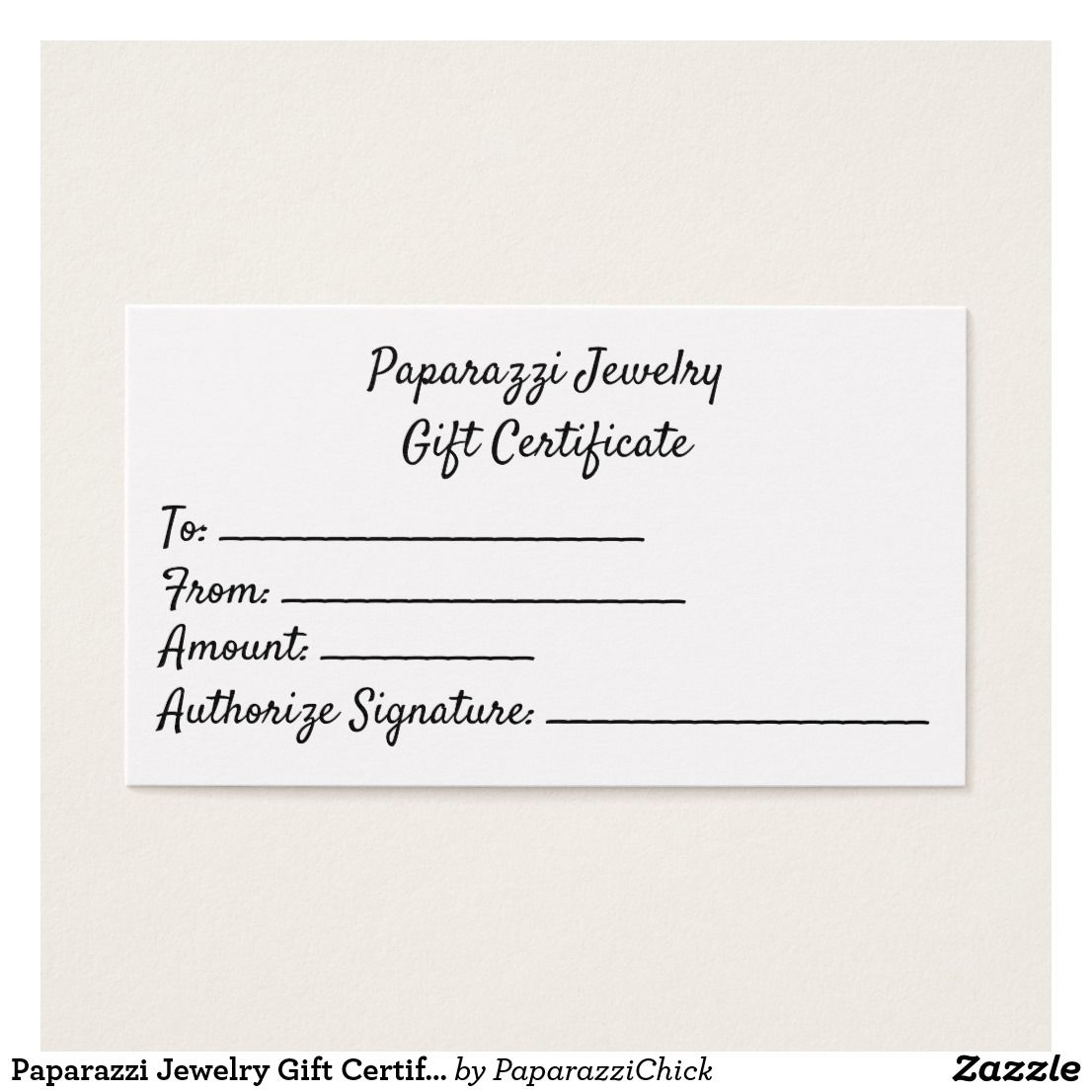 Paparazzi Jewelry Gift Certificates Business Cards | Paparazzi ...