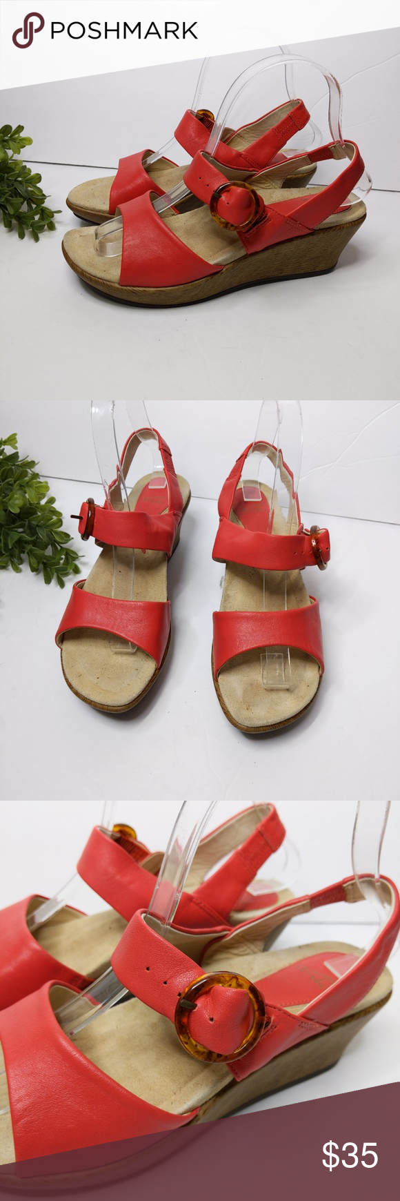 Dansko Wedge Sandals 37 Coral Ankle Strap Low Heel Dansko Wedge Sandals 37 Coral Ankle Strap Low Heel 6.5 7 Comfort Leather Upper  Dansko 37 approximately 6.5/7  Preowned, good condition. Dansko Shoes Wedges #lowwedgesandals