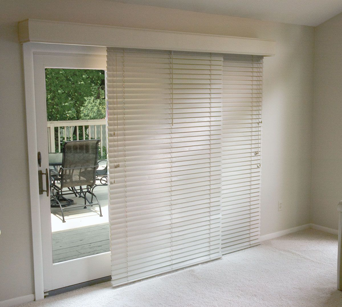 horizontal wood blinds for patio doors