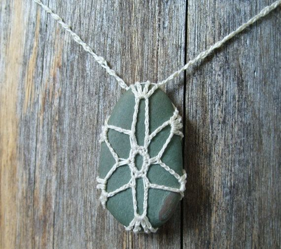 Bohemian River Rock Necklace by TheTreeFolkHollow on Etsy, $15.00