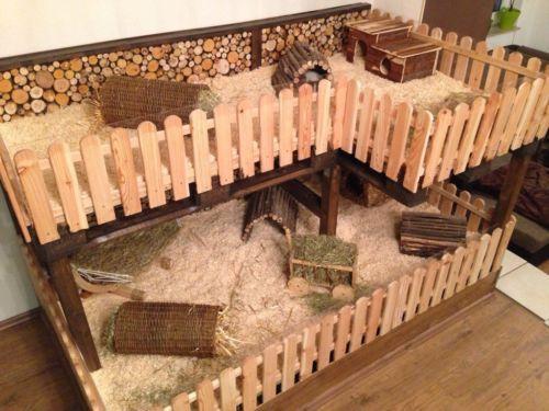 meerschweinchen stall stall 2x1m kleintier stall kfig 500 375 hedgiiiie. Black Bedroom Furniture Sets. Home Design Ideas