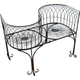 Tete-a-Tete Kissing Garden Bench, Outdoor Benches,Metalware, by ...