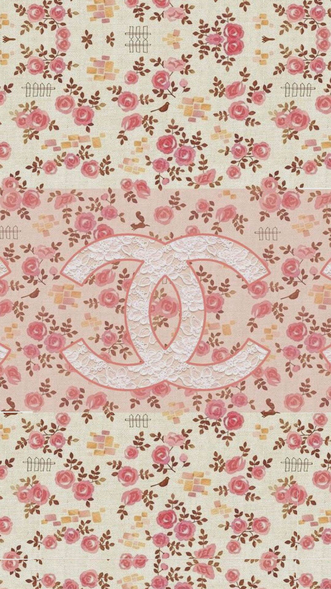 Iphone wallpaper tumblr chanel - Coco Chanel Flowers Pattern Logo Iphone 6 Plus Hd Wallpaper