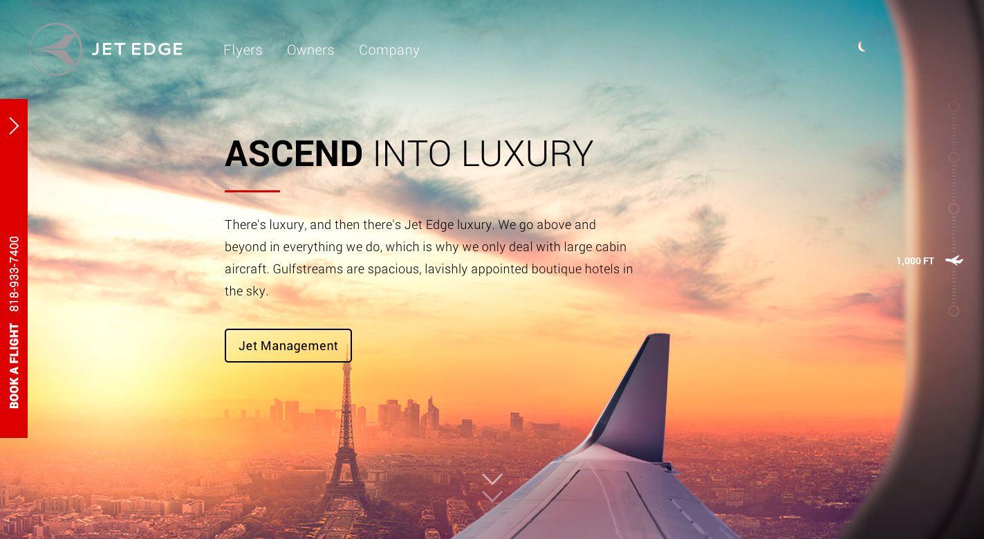 Jet Edge Web design, Web design examples, Web design tools
