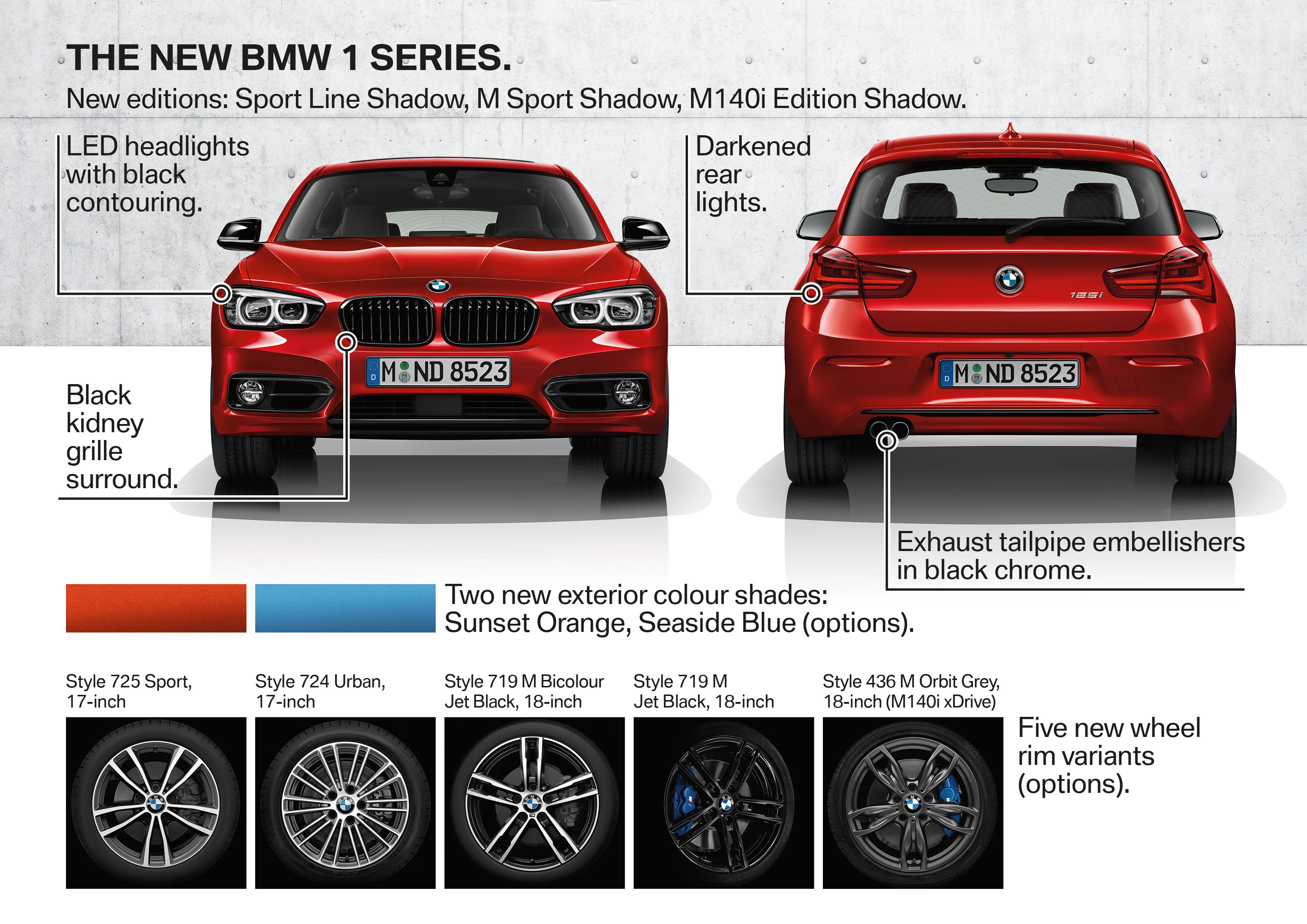 Bmw F20 F21 1series Hatchback Facelift Editionshadow