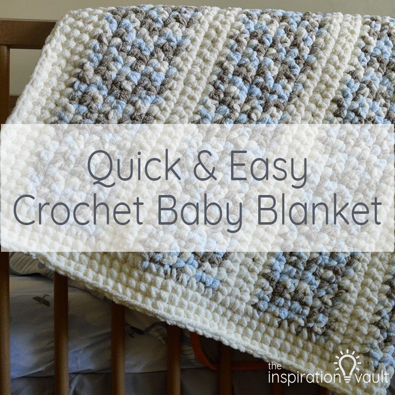 Quick & Easy Crochet Baby Blanket | Crochet | Pinterest